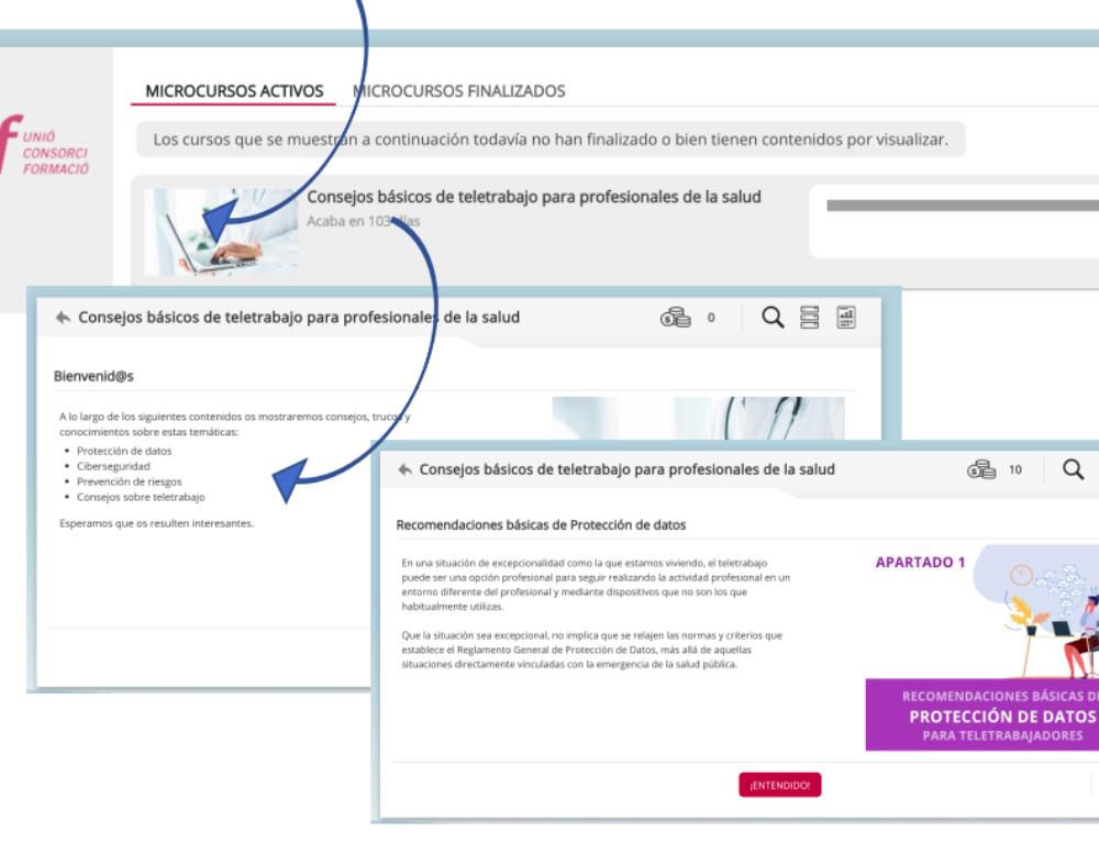 COVID-19: Micro-contingut gratuït per a professionals de les organitzacions de salut i social que fan teletreball