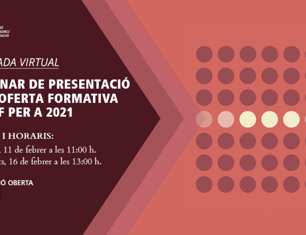 Webinar de presentació de l'oferta formativa d'UCF per a 2021